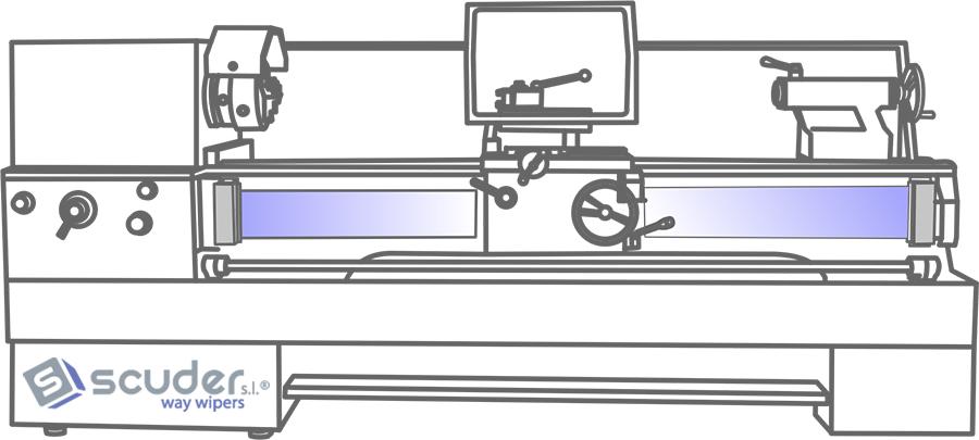 Enrolladores de banda o cortinas enrollables para proteger al operario de los husillos de los tornos convencionales