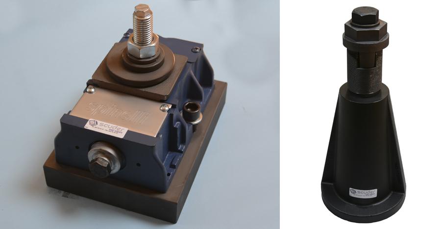 Nivelador para maquinaria azul y cono de nivelación para mesas Stolle