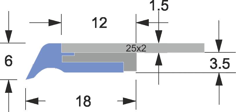 limpia guias serie ln-2 25x2