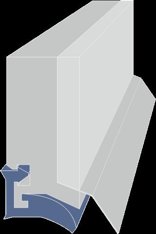 limpia guias para máquina / rascadores para máquina serie LA-F extrusionado