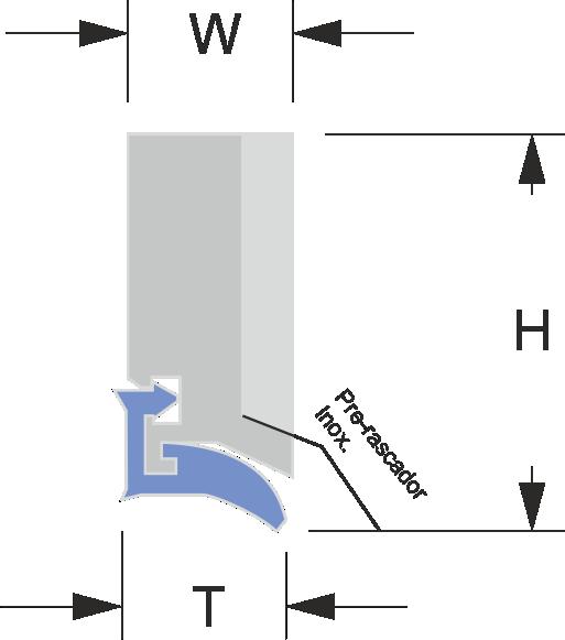 limpia guias para máquinas / rascadores para máquinas serie LA-F
