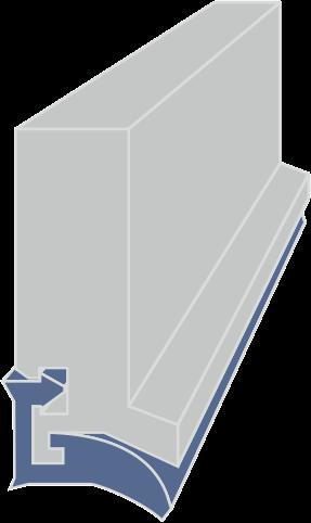 limpia guias para máquina-herramienta / rascadores para máquina herramienta serie LA extrusionado