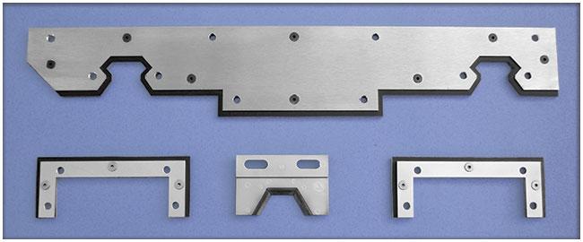 Ejemplos de limpia guías sandwich para máquinas / rascadores sandwich para máquinas