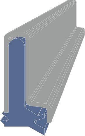 Limpia Guías para maquinaria / Rascadores para máquina-herramienta Serie AB extrusionado