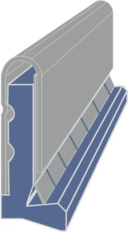Limpia Guías para maquinaria / Rascadores para maquinaria tipo LMX