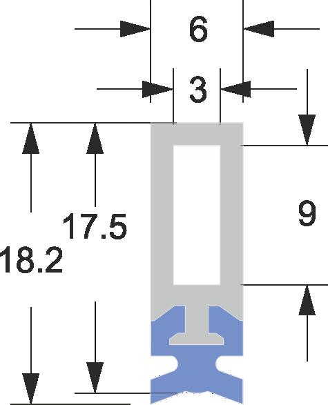 Limpia Guías Lineales para maquinaria / Rascadores Lineales para maquinaria serie LAW-DL