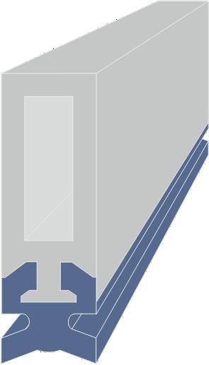 Limpia Guías para máquina / Rascadores para máquina Lineales serie LAW-DL extrusionado