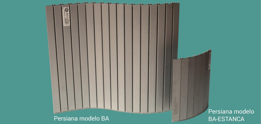 Persianas de protección para máquina modelos BA y BA-ESTANCA