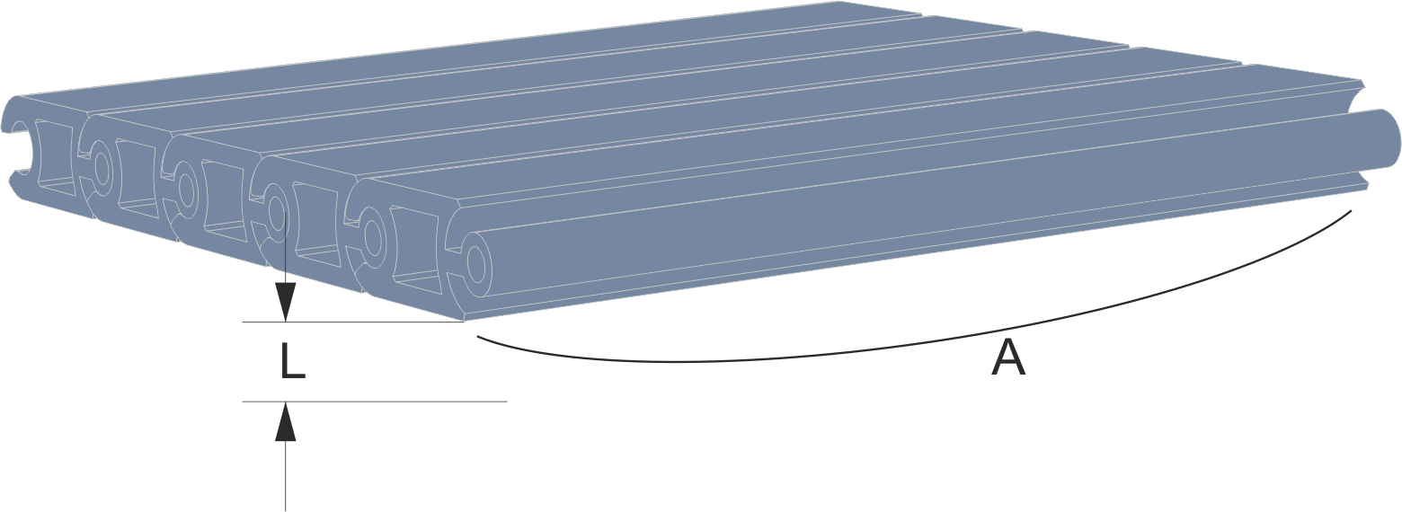 Persiana de protección para máquinaa Modelo CLA extrusionada