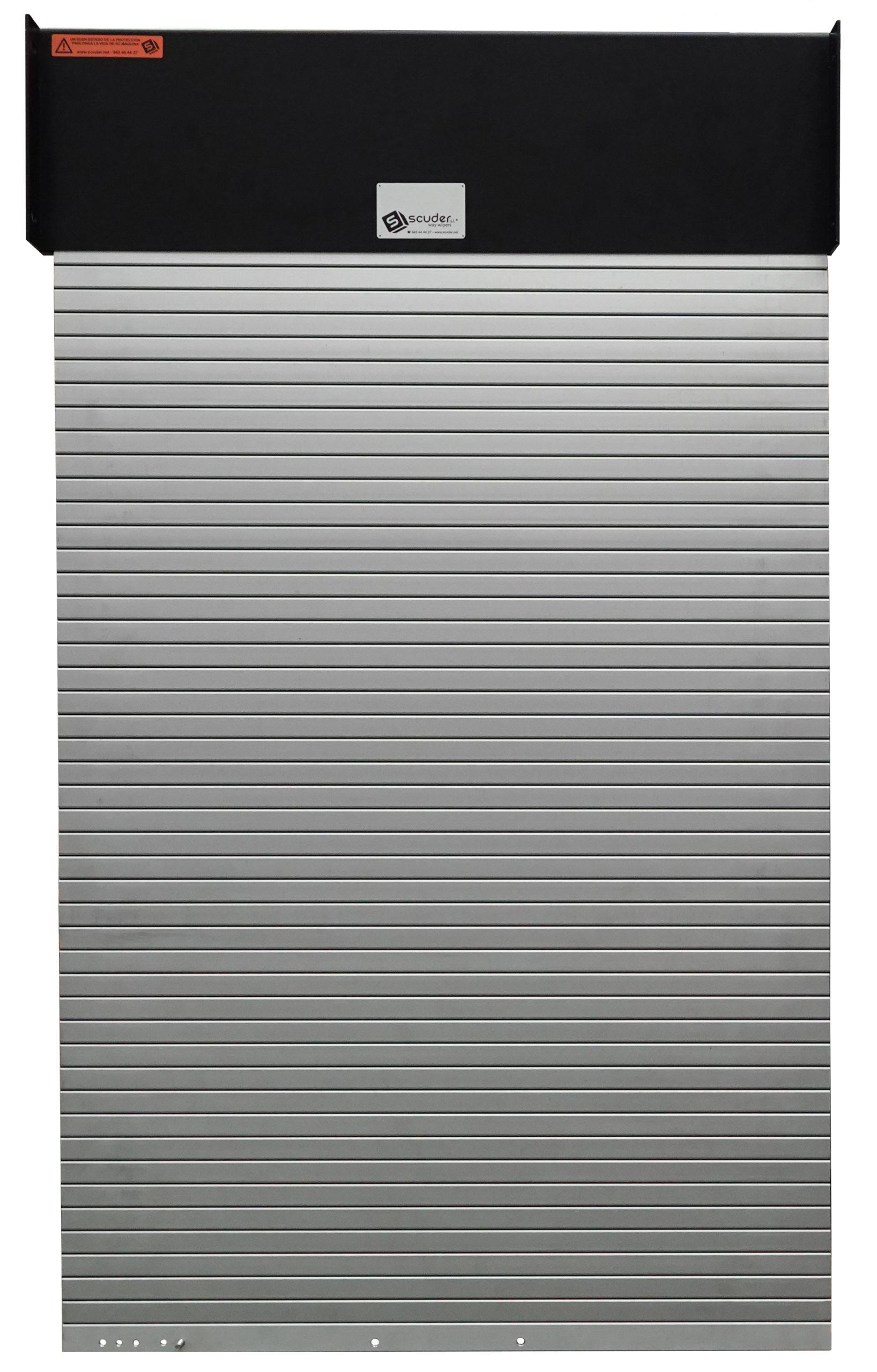 Persiana de protección para máquinas modelo PHR-ENR con tapa, enrollador con caja