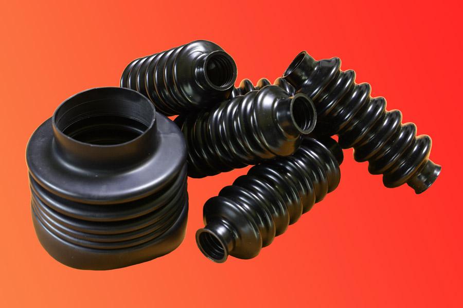 Ejemplo de fuelles de protección para maquinaria de nitrilo, pvc, etc.