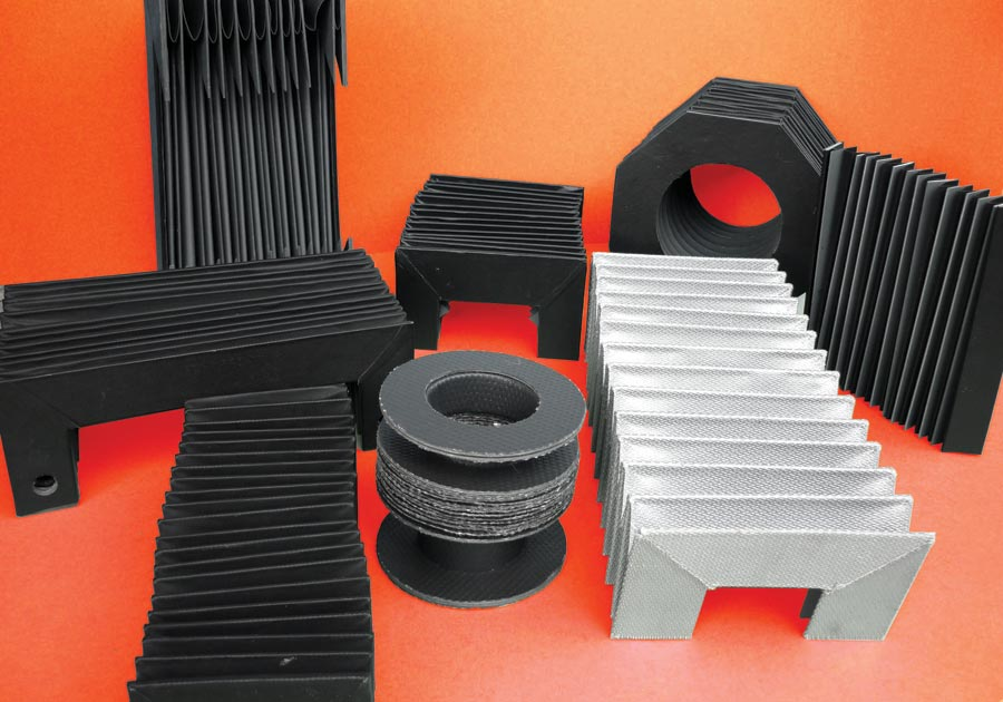 *Ejemplo de diferentes formas de fabricación de fuelles de protección para maquinaria