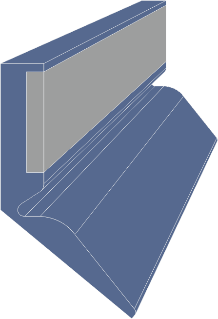 Limpia Guías / Rascador Vulcanizado Serie LME