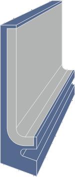 Limpia guías / Rascador vulcanizado serie LMS extrusionado