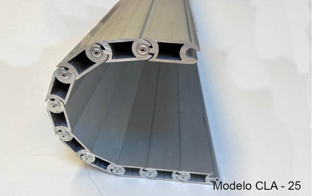 Persiana de protección para maquinaria modelo CLA-25 pisable cubre-fosos